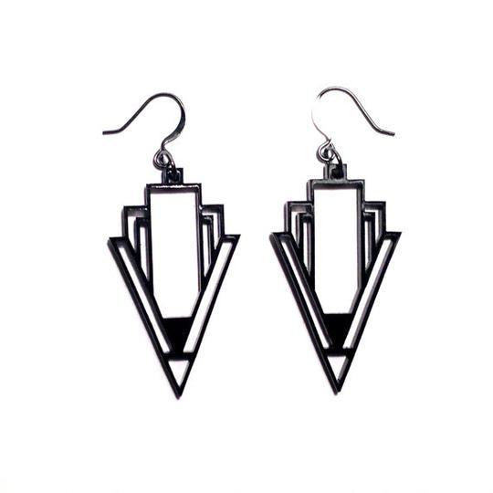 Custom Geometric Abstraction Earrings by plastique | Hatch.co