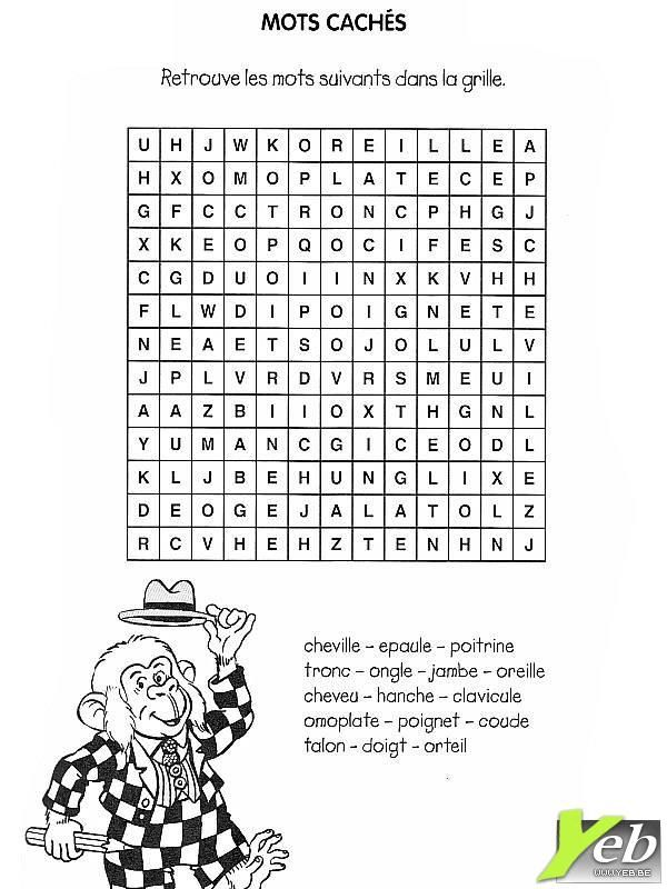 mot cach a imprim   Exercise for kids, Free coloring pages, Coloring pages