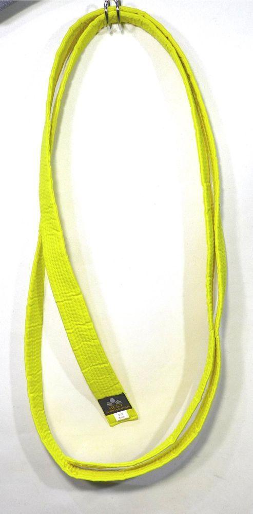 Best Sang Moosa Solid Yellow Belt Size 4 - 104 Karate Taekwondo #Be