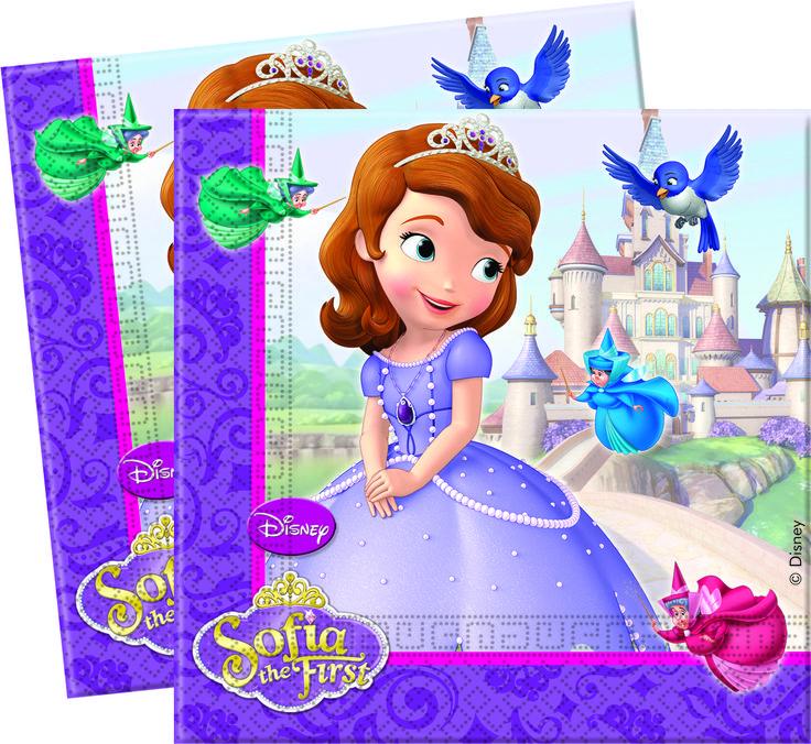 tovaglioli per festa di compleanno a tema sofia la principessa http://www.lefestediemma.com/shop/it/tovaglioli/187-sofia-tovagliolo-5201184820049.html