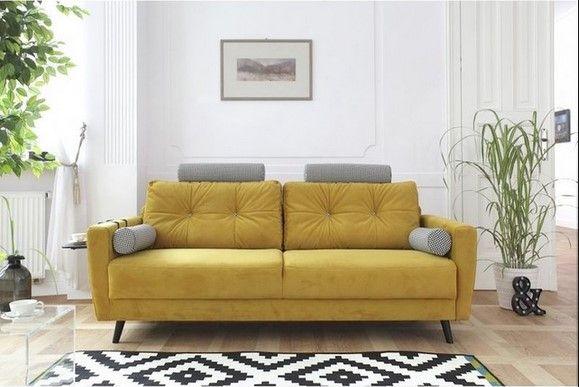 Bobochic Scandi Edition Limitee Canape Fixe Pouf 3 Places Jaune Moutarde Canape Droit Canape Fixe Et Canape Bobochic