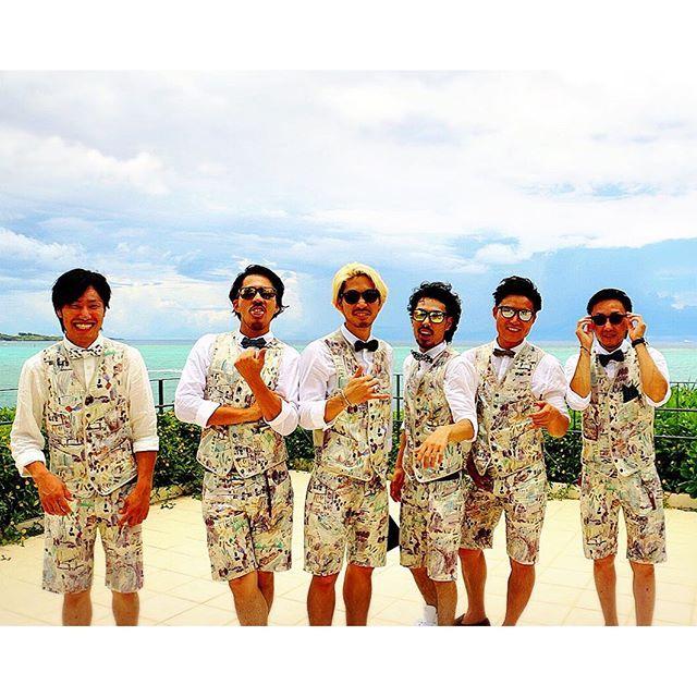 2016.6結婚式Smile, always as ever. おそろコーデ #okinawa #moonbeach #wedding #summer #PaulSmith #setup #沖縄 #恩納村 #結婚式コーデ #おそろコーデ #ポールスミス #セットアップ #リゾートスタイル #サングラス #日焼け #海 #夏 2016/06/28 16:14:29