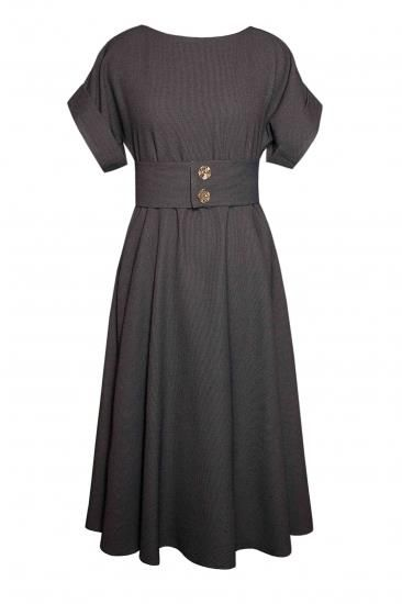 Платье клеш с рукавом фото
