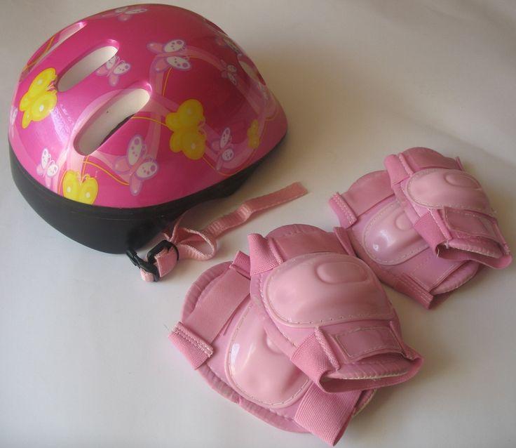 Kask wraz z ochroniaczami dla dziewczynki na 3 latka. Stan idealny, mało używany.  #Dzieciociuszek #kask #narolki #narower #różowy #zabawa #jeździmy #Bezpiecznie #dlacoreczki