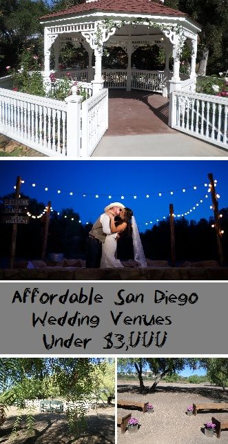 Check out this crazy helpful list of affordable San Diego wedding venues under $3,000. Compiled by San Diego DJ Staci. Includes links & images.