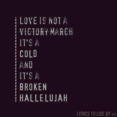 Hallelujah, Leonard Cohen