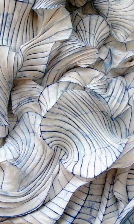 Blue & White… Paper sculpture by Peter Gentenaar