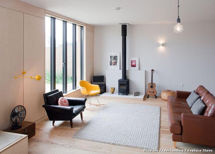 Propane Freestanding Fireplace Stove Scandinavian by Mailen Design