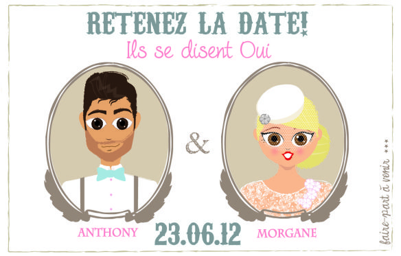 save the date aimant | The Perfect Day by Janine