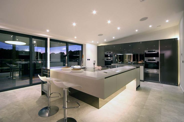 EXTREME Extreme minimal monochrome kitchen design in private residence.