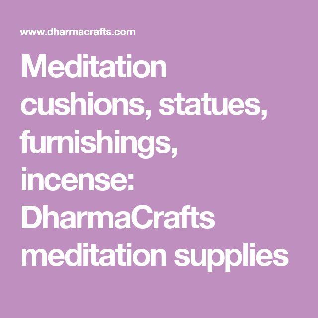 Meditation cushions, statues, furnishings, incense: DharmaCrafts meditation supplies
