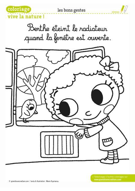 Berthe éteint le radiateur quand la fenêtre est ouverte
