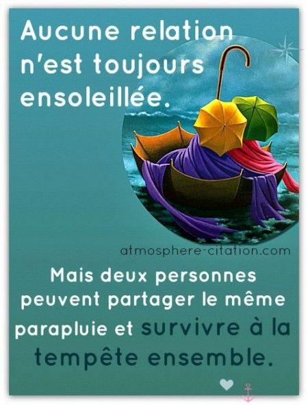 Aucune relation n'est toujours ensoleillée, ...  Trouvez encore plus de citations et de dictons sur: http://www.atmosphere-citation.com/amour/aucune-relation-nest-toujours-ensoleillee.html?