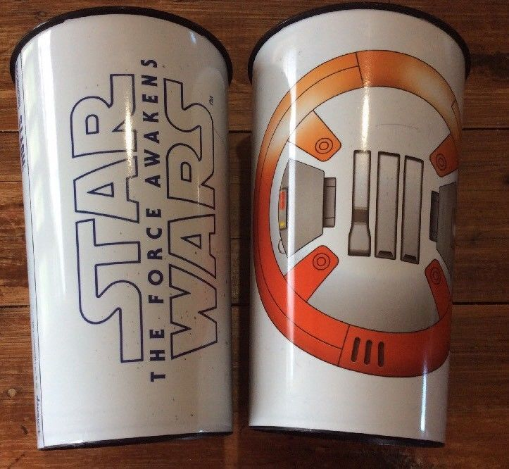 2 X Star Wars The Force Awakens Movie Drinking Plastic Glass Tumbler Hoyts Used  | eBay