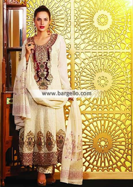 Tawakkal Fabrics Pearl Collection 2014 UK USA Canada Australia Saudi Arabaia Japan Bahrain Kuwait Norway Sweden New Zealand Heavy Embroidered Pishwas in Chiffon for all Formal Events Product code: WL6982 Original Price: $210.95 Our Price: $190.95 You save: $20.00 (9%)