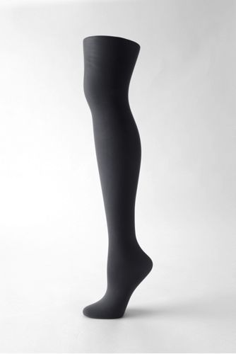 Women's Opaque Control Top Tights from Lands' End