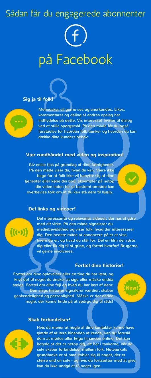 Sådan får du engagerede abonnenter på Facebook #infograf