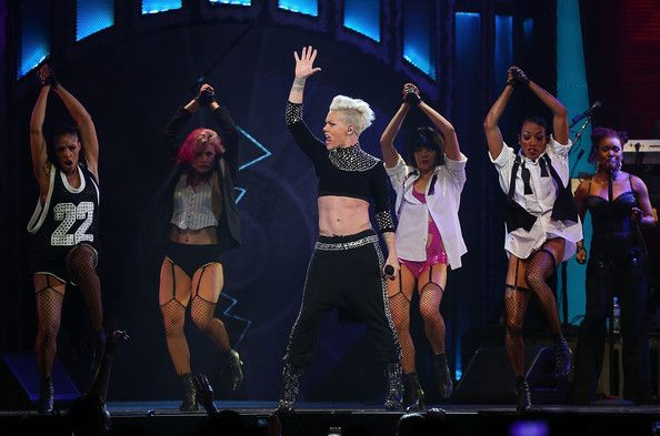 Pink Pink performs live for fans at Perth Arena on June 25, 2013 in Perth, Australia.
