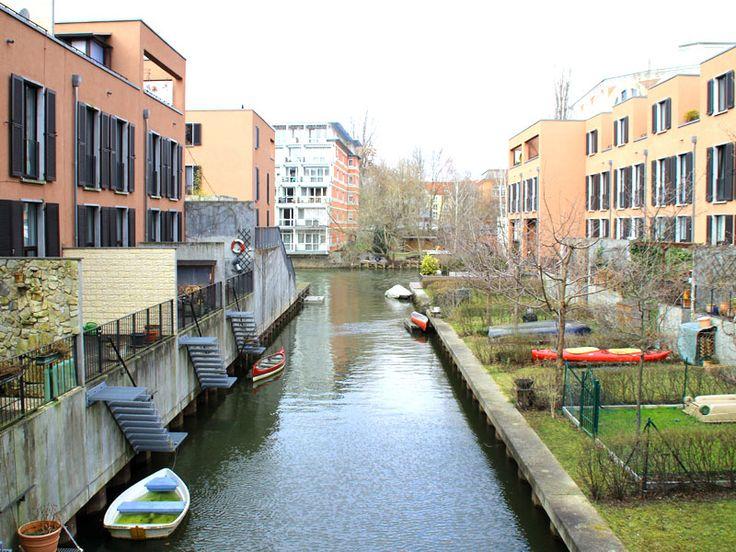 Stelzenhaus am Karl-Heine-Kanal im #Frühling in #Leipzig