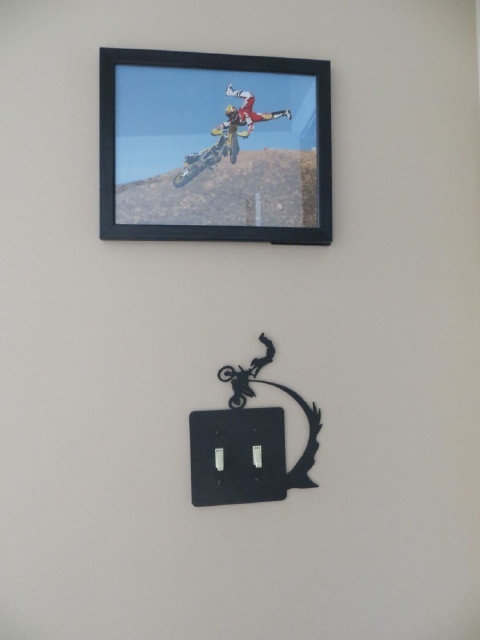 Boys Dirt Bike Themed Bedroom Dirtbike Light Switch Cover