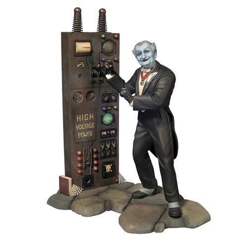 """DEAL OF THE DAY The Munsters Grandpa Munster 1:9 Scale Model Kit: Includes cobblestone base and equipment reading, """"High voltage power!"""" 1:9 scale kit stands 8 1/4-inches tall when assembled - glue and paint required. Can be combined with the Herman Munster kit for one awesome scene! For more Munsters action figures visit our Classic TV Today!!  TO BUY CLICK ON LINK BELOW http://tomatovisiontv.wix.com/tomatovision2#!action-figure/c1t9c"""