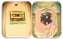 "For your newborn or expectant friend, you cannot go wrong with a baby bodysuit which serves two purposes, keeping the baby clothed all while keeping a smile on the face of the parent and anyone who claps eyes on the satirical sayings or throwback images. The Rubik's cube and amusing ""Mum and Dad's Mixed Tape"" is a reference that tweens of today may not understand, yet the parents most certainly would.  Available from Bondi Markets at the 'Little Skip'' stall."