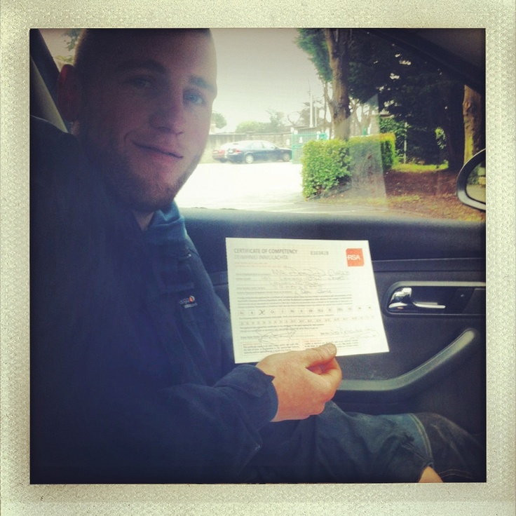 Congrats to Dean Clarke! Passed his driving test after completing the 1.5 hour pretest package with the RSA Driving School. See more packages here...http://www.rsadrivingschool.ie/rsa-driving-lesson-pricing.html #rsadrivingschool #drivinglessonsdublin