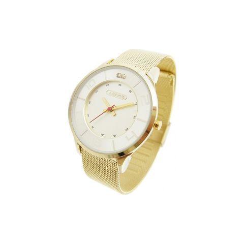 ラウンドフェイスメタル時計/ゴールド(ABISTE [アビステ] の時計)