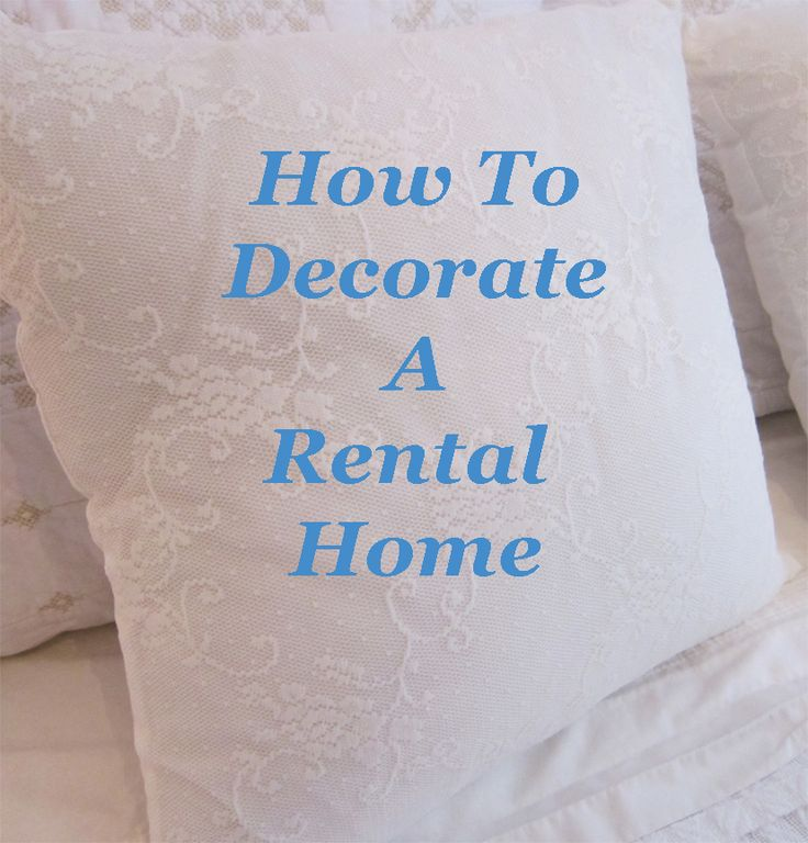 Lots of decorating ideas for rental homes!