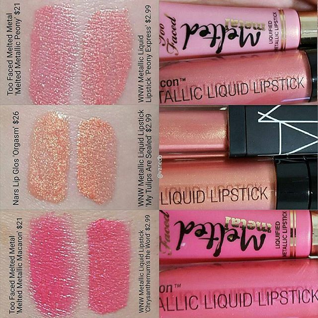 @vanedb -  The dupes I found in the LE collection by Wet n Wild.I found fupes for the Too Faced Me...