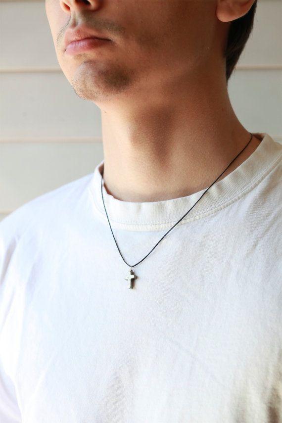 Men S Cross Necklace Necklace For Men Pyrite Stone