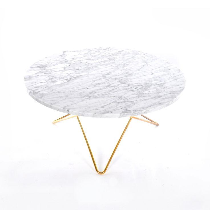 O Coffee Table, White Marble/Brass - Dennis Marquart - OX Denmarq - RoyalDesign.co.uk