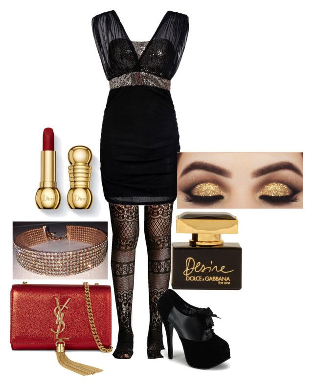 """""""Tenue n°14"""" by vava-creatrice on Polyvore featuring Yves Saint Laurent, Free People and Dolce&Gabbana"""