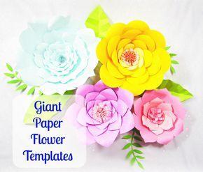 Giant Paper Flower Templates DIY Printable Flower