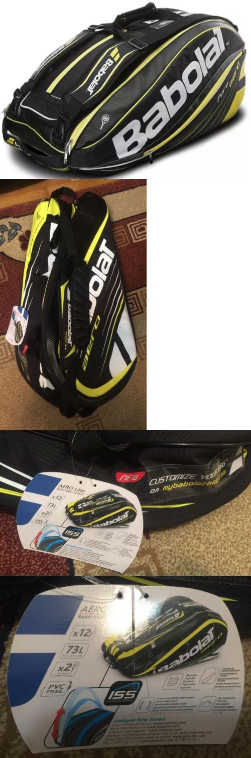 Bags 20869: Babolat Aero Line Tennis Racquet Bag X12 Rafa Black Andyellow Line New -> BUY IT NOW ONLY: $59.99 on eBay!