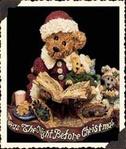 Alexis Bearinsky...The Night Before Christmas-Boyds Bears Resin Bearstone #228314
