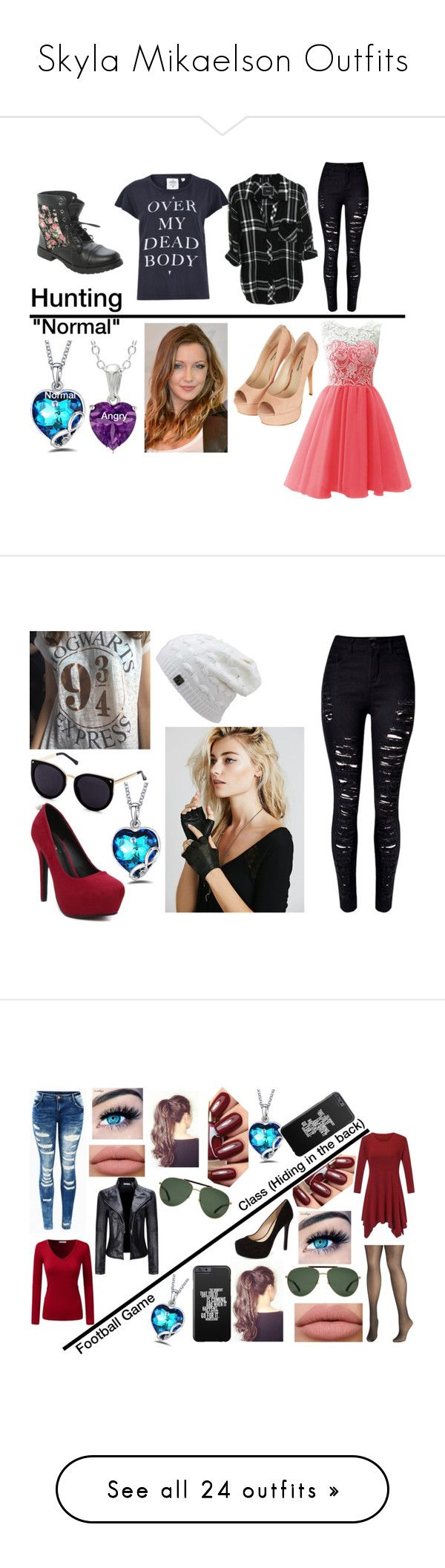 """""""Skyla Mikaelson Outfits"""" by cassandratheharrypotterlover on Polyvore featuring jewelry, necklaces, purple, pendant necklaces, sterling silver necklace, heart necklace, long necklace, sterling silver heart pendant, colar and infinity pendant"""