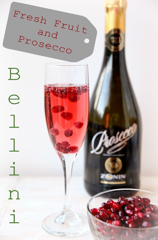 Fresh Fruit and Prosecco Bellini Recipes:  Repin if you are ready for one this weekend!