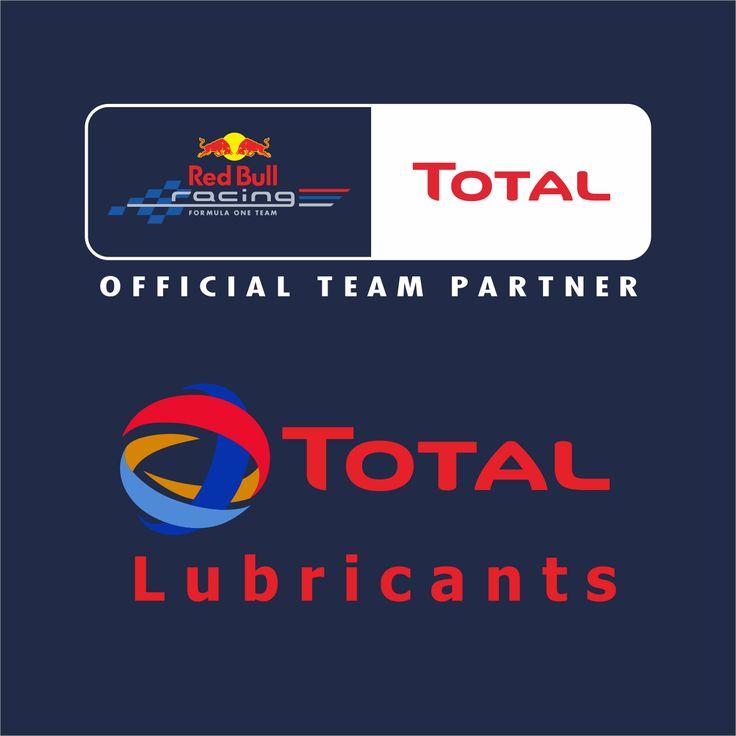 Desain Promosi Total Oil & Red Bull Official Team Partner Logo Red Bul Racing dan Total Oil Lubricants