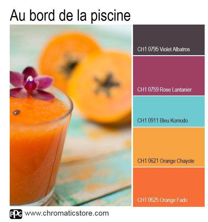 Une palette de teintes vitaminée et ensoleillée qui donne envie d'évasion. Idéale pour une pièce à vivre ou une véranda. www.chromaticstore.com #inspiration #déco #orange