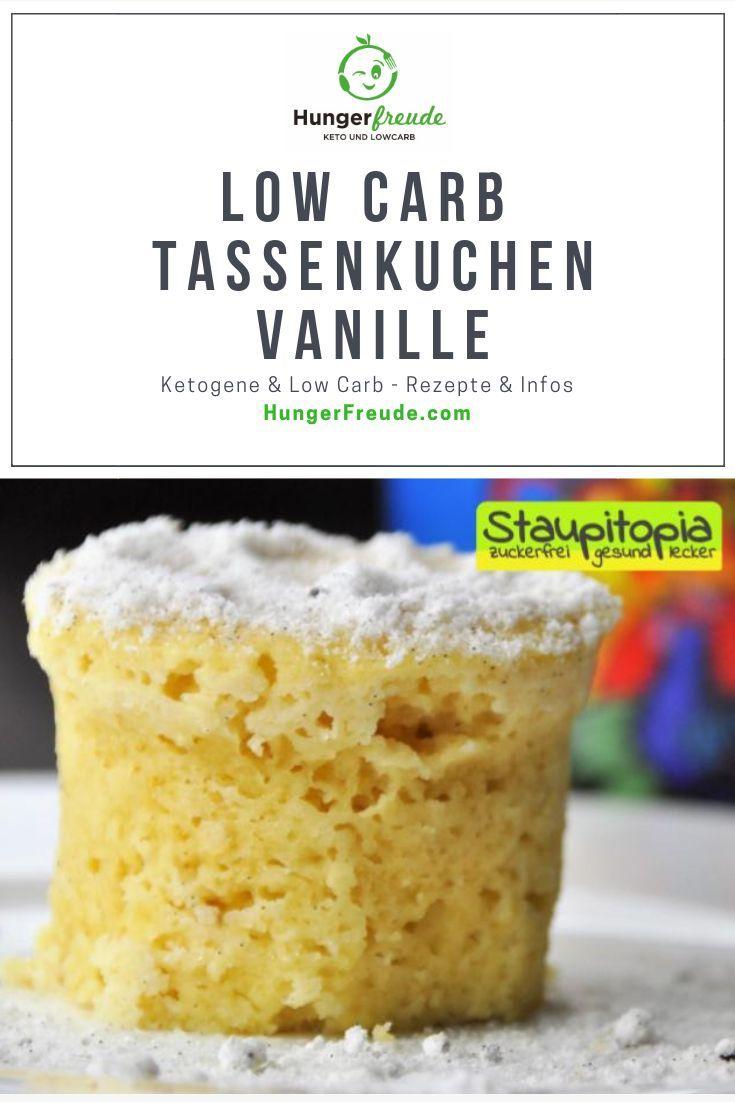 Low Carb Vanille Tassenkuchen Rezept Hungerfreude Ketogene