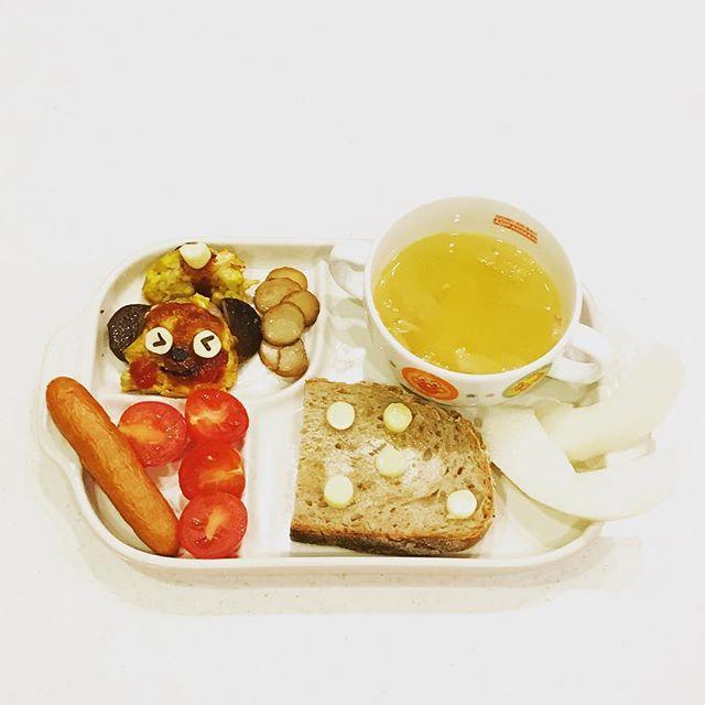 2016/11/28 05:57:30 yo_shi_bon #ライ麦パン #魔女のパン #ひまわりの種のライ麦パン #balmuda #toast #バルミューダ #キャベツのスープ  #オムレツ #omelette #幼児食 #2歳 #2歳7ヶ月 #朝ごはん #朝食 #今日の朝食 #こどもごはん #いただきます #kids #kidsfood #kidsmeal #kidsbreakfast #breakfast #japonais #japanese #japanesefood #japanesebreakfast #ムスメシ #ムスメ #ニコニコ