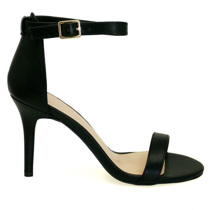 Savvy-06 Black Single Sole Short Heels