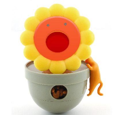 Cat Tumbler Treat Dispensing Toy- Sun Flower Design