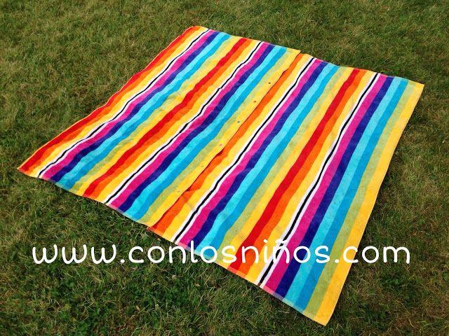 Maxi toalla con snaps trucos curiosos costura - Toallas de playa dobles ...