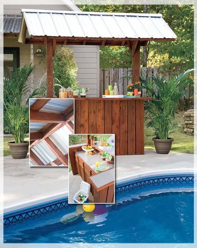 How to build a portable tiki bar woodworking projects for Diy backyard bar