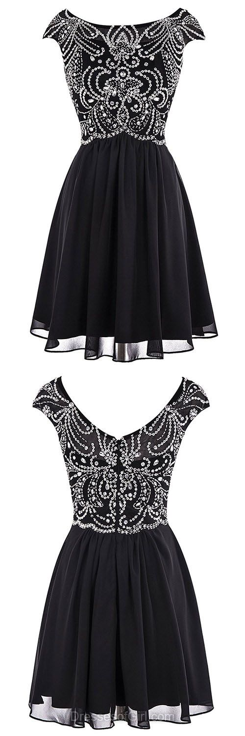 Cheap Homecoming Dresses, Short Prom Dresses, Black Cocktail Dress, Chiffon Party Dress, Casual Summer Dresses For Teens