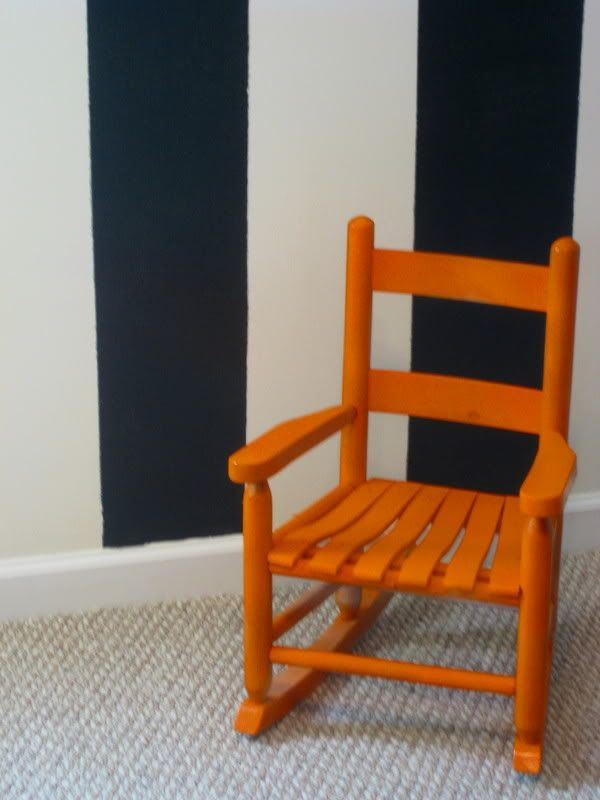 Small rocking chair for the kids. Kiddie room decor ideas