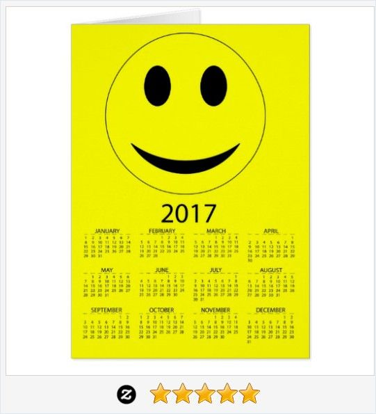 Happy New Year 2017 Funny #Smiley #Calendar Card  #JustSold #ThankYou :) http://www.zazzle.com/happy_new_year_2017_funny_smiley_calendar_card-137292575406944611