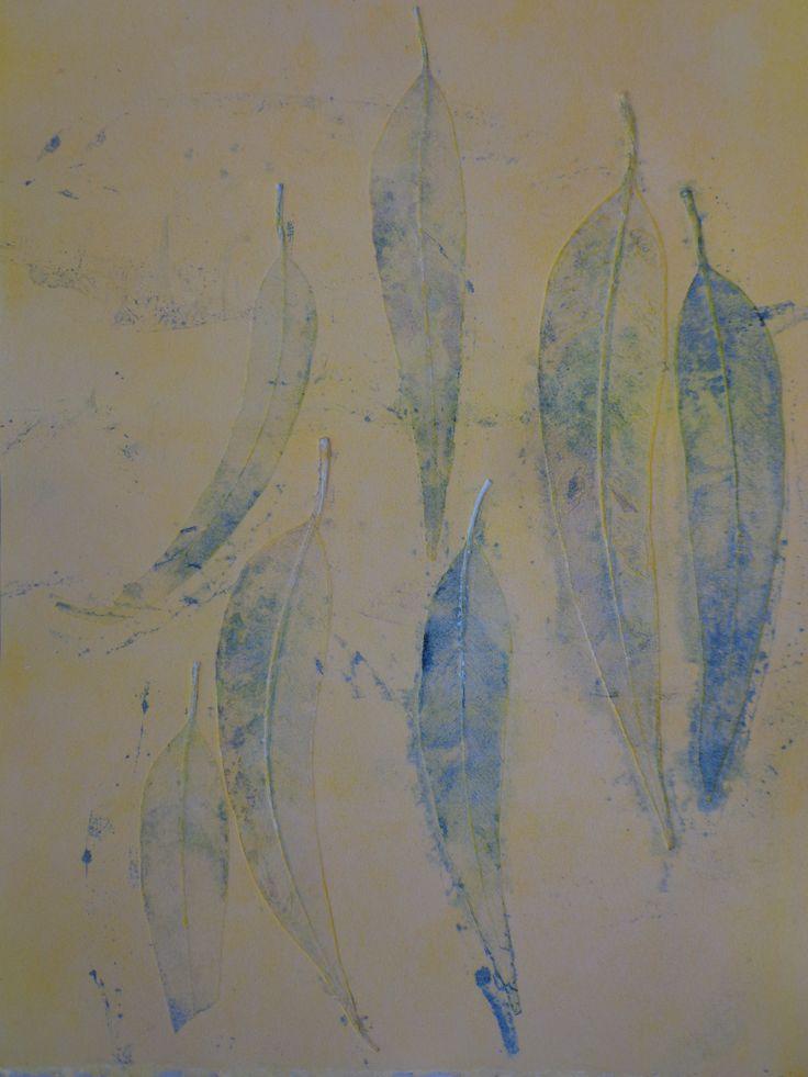 Leaves II, Monoprint